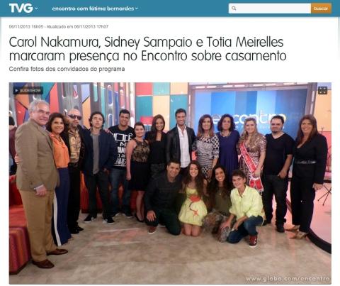 Todos os convidados do programa posaram ao lado de Fátima Bernardes